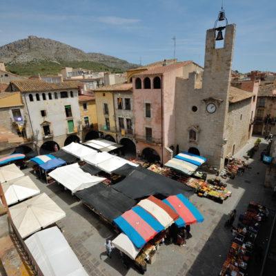 Vue aérienne du marché de Torroella de Montgrí. © Ajuntament de Torroella de Montgrí